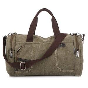 Image 2 - Coreano 2020 novo simples dos homens bolsa casual selvagem grande capacidade saco de lona moda personalidade bolsa de ombro moda bolsa de viagem