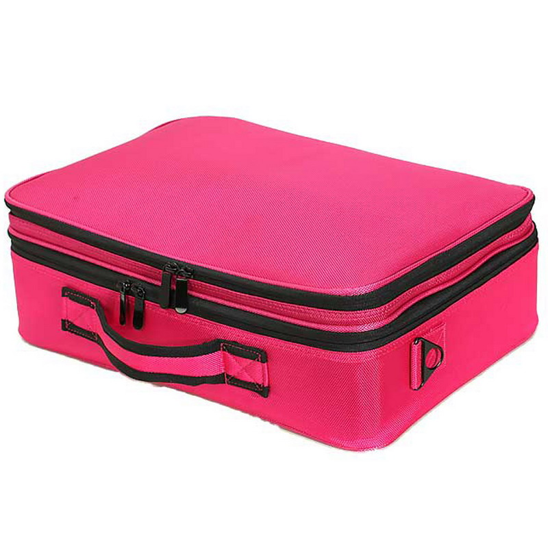 Big Promotion ! Professional Multi-function Organizer Cosmetic Makeup Case Bag Artist Dedicated Storage High Quality ST1#