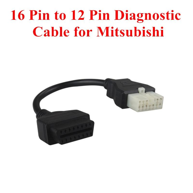 Prix pour 16 Broches à 12 Broches OBD1 OBD2 Connecteur De Diagnostic Adaptateur pour Mitsubishi