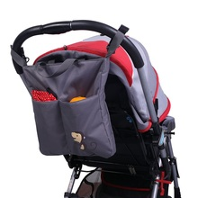 New Brand JOYREN Cartoon Gray Baby Stroller Organizer Accessories Big Capacity Waterproof Bebe Carriage Bag For Prams KF167