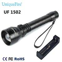 UniqueFire Original Brand Flashlight 1502 Portable Flashlight IR 940nm LED Infrared Light Rechargeable Flashlight+Charger
