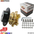 EPMAN Universal Quick Release Steering Wheel Snap Off Quick Release Golden Hub Adapter Boss kit EP-CA0011-FS