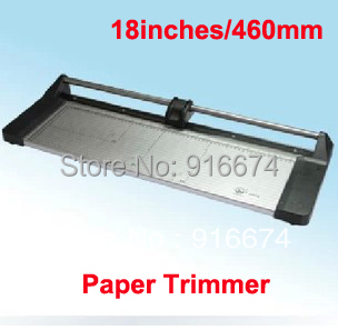 Free shipping Discount Portable 18 inches 460MM Manual Rotary Professional Paper Cutter PVC Trimmer