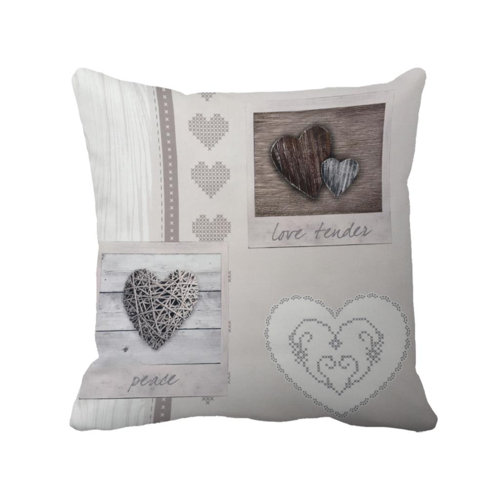 various heart shape print custom vintage cushion cover wedding decoration shabby chic throw pillow case for home and sofa chair