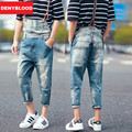 Mens Distressed Jeans Ripped Jumpsuit Denim Overalls Men Patchwork Baggy Cargo Pants with Suspenders Denim Bib for Men 100-99