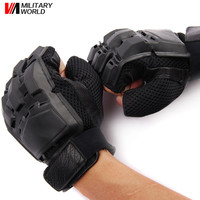 Military Airsoft Tactical PVC Half Finger Assault Glove Outdoor Sports Army Motorcycle Cycling Half Finger Gloves