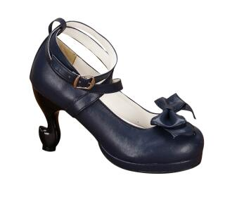 Impresión 44 Estilo Marino Princesa Mori Vestido Chica Angelical brown azul Señora Bombas rojo Partido blanco Mujeres Lolita Negro Extraño Cosplay Tacones Zapatos 34 Mujer Alta wUfvSqr6wx
