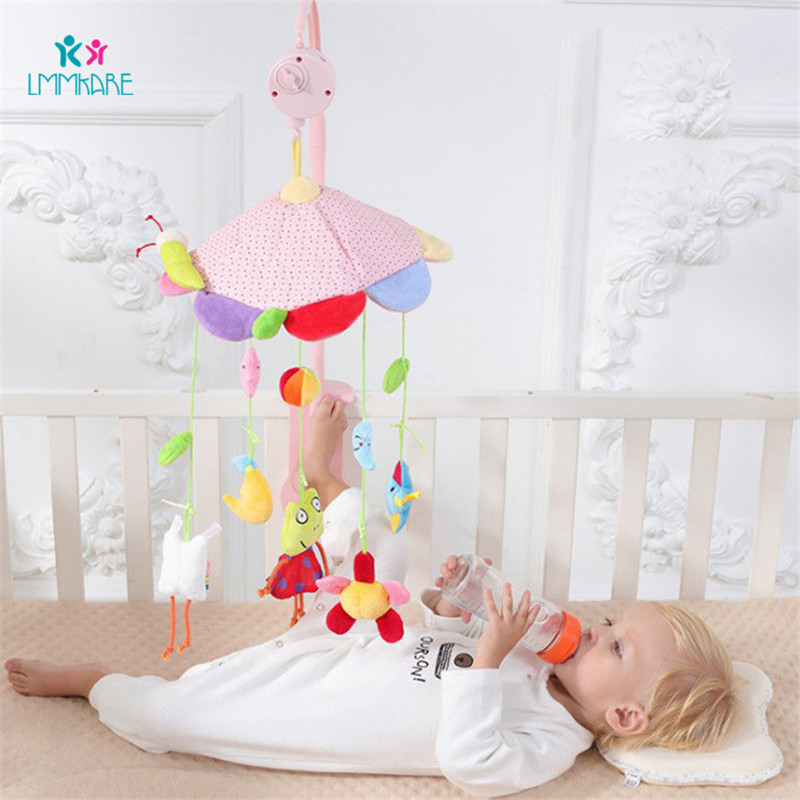 Music Baby Bed Bell Revolving Crib Bell Children Plush Pacifying Toys Baby Hang Bedside Bells Baby Room Decoration Bedding Sets
