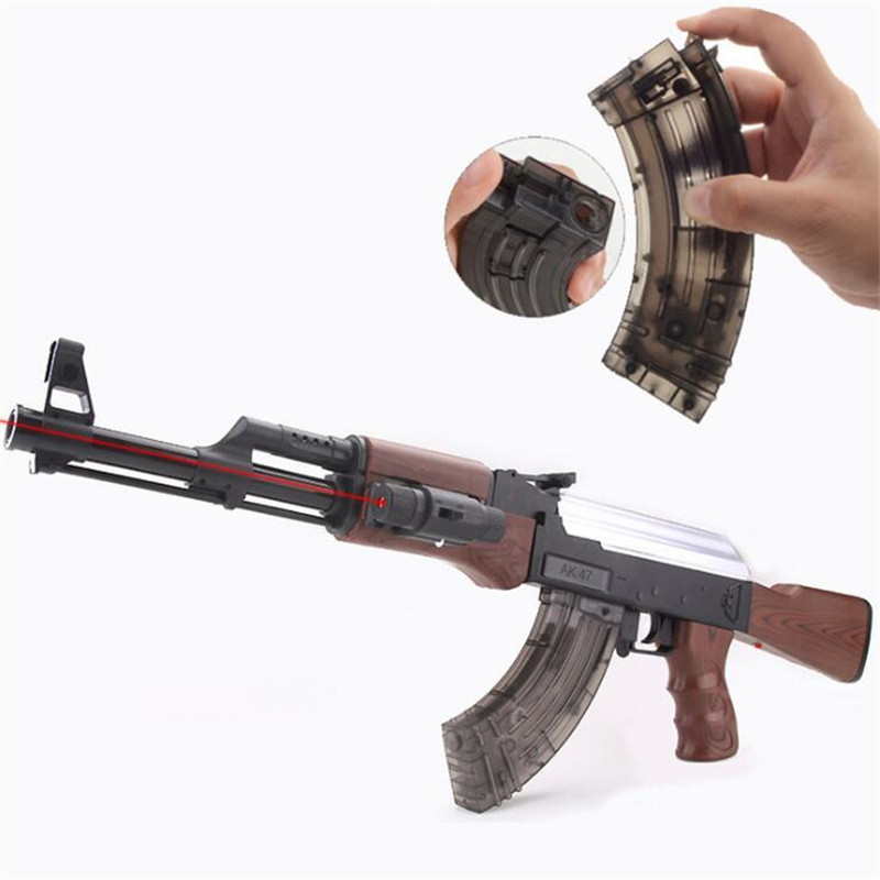 Rifle AK 47 Live CS Electric and manual Toy Gun Pistol Gun Water Bullet Soft Bullet Orbeez Water Gun Air gun Toys For Kids yukala 11 1v 1800mah li ion battery for electric toys water bullet gun 2pcs lot free shipping