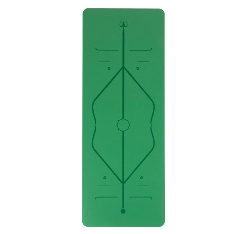 Tapis de soutien plat tapis d'exercice tapis de yoga en caoutchouc naturel antidérapant PU yoga tapis de danse homme et femme coussin de méditation