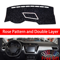 Rose Pattern For Volkswagen touran L 2016 2017 2018 2019 Dashboard Cover Car Stickers Car Decoration Car Accessories Car Decals