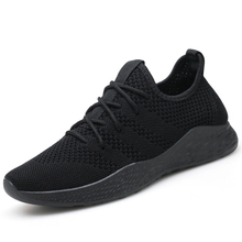 Купить с кэшбэком Men Casual Shoes Mesh Sneakers Brand Men Shoes Men Sneakers Flats Male Mesh Slip On Loafers Fly Knit Red Breathable Shoe Summer
