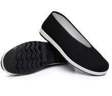 고품질 무료 배송 브루스 리 쿵푸 헝겊 신발 남자 윙 춘 Jeet Kune은 통풍 Wushu 태극권 신발 사이즈 38-44을 마