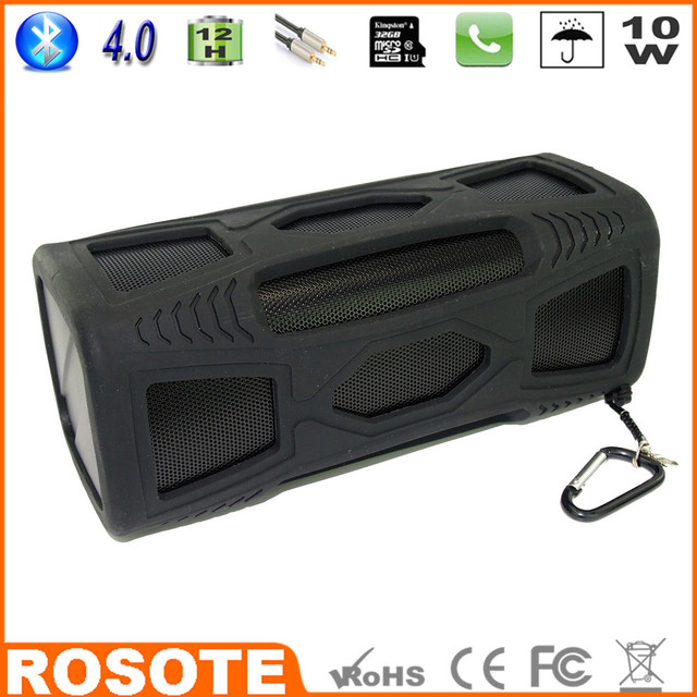2015 Waterproof 10W Super Bass Portable HI-FI mini multifunctional shower Bluetooth 4.0 speaker