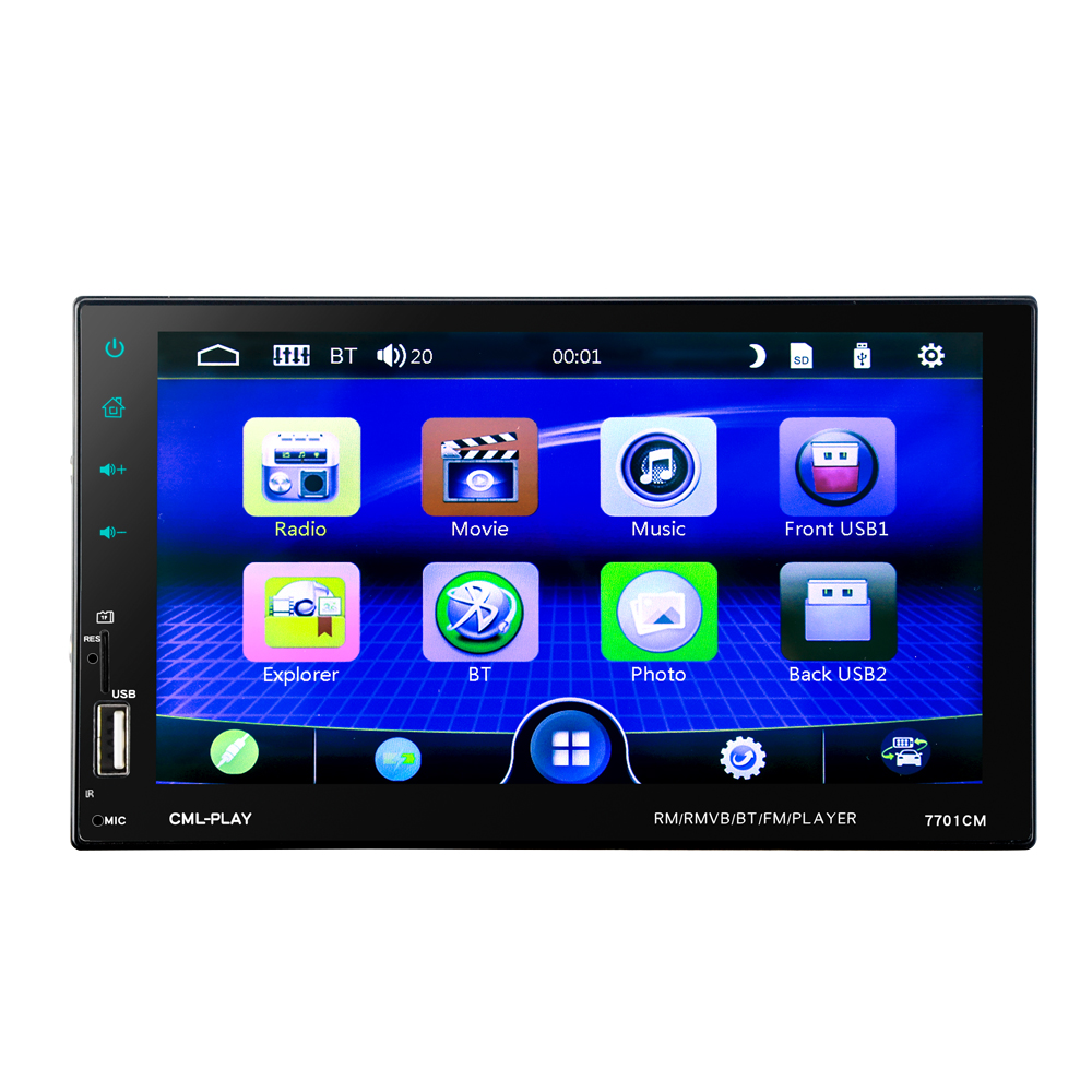 Image 4 - HEVXM 7701 2 Din Touch Screen Car MP5 Player  Universal Auto Radio Stereo Car Audio Video Multimedia Player  Mirror link-in Car Radios from Automobiles & Motorcycles