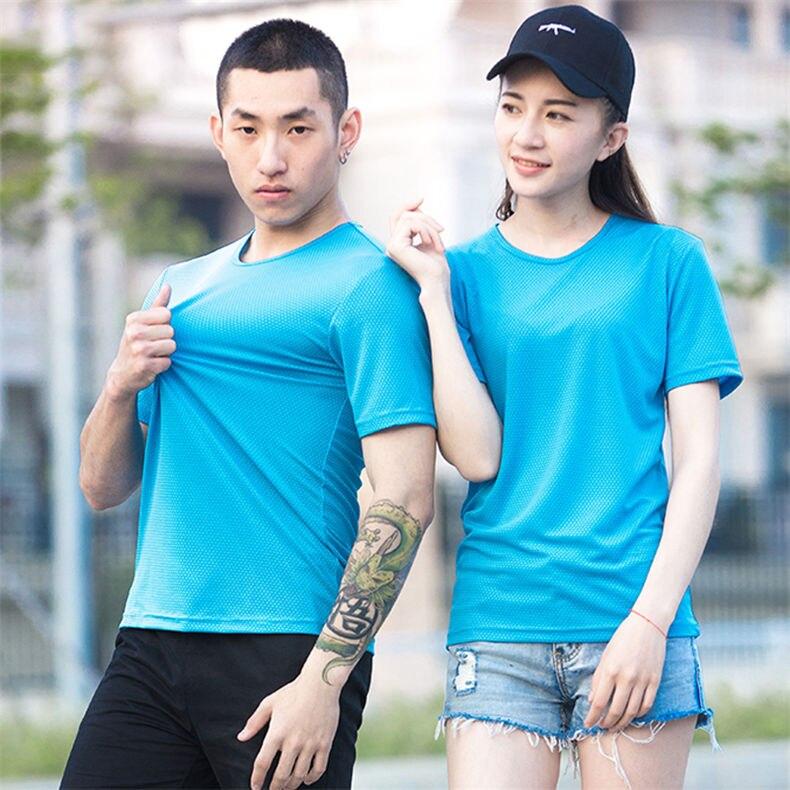 XS-5XL Fast Dry T shirts Men Women Short Male Female Fitness T-Shirts Summer Breathable Hiking Couple Sweat-shirts Man Plus Size 6