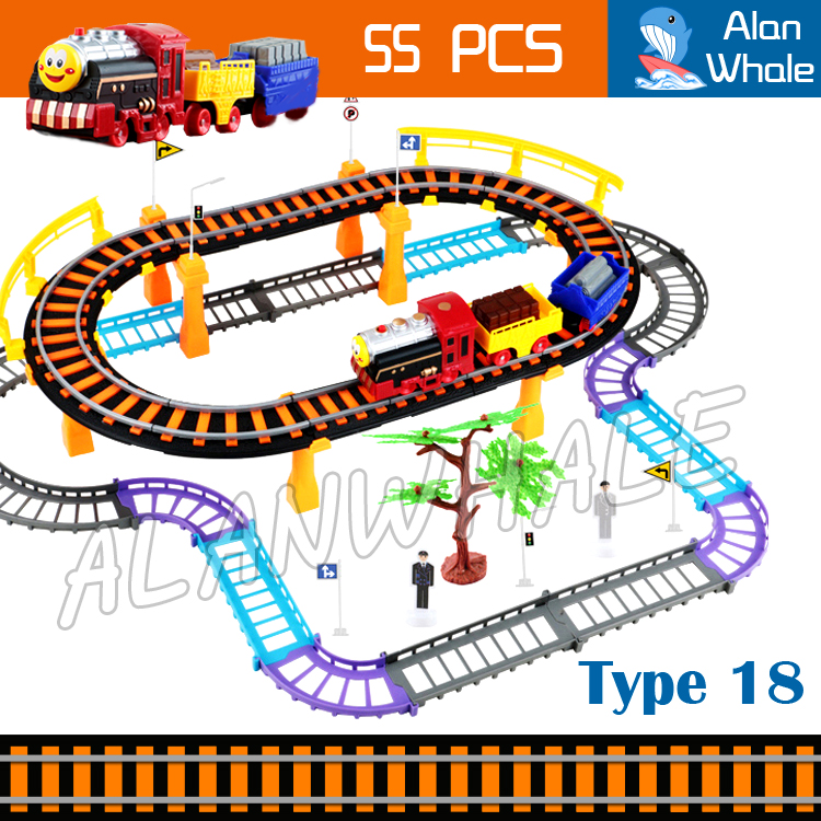 55pcs 2016 Hot Selling Friends Electric Rail Car Track Diecast For Kids Trains Children Gifts Railway Toys Boys Girls