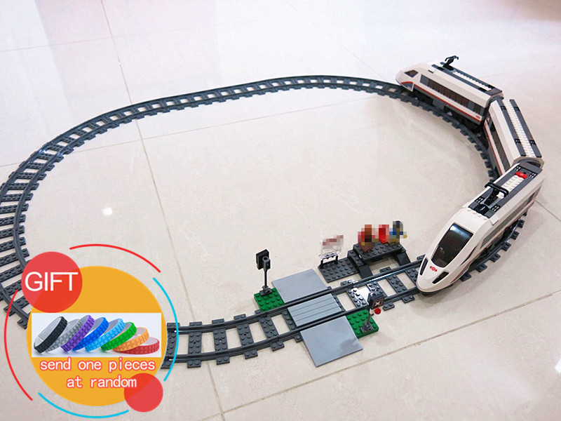02010 610Pcs Genuine City Series The High-speed Passenger Train Set Educational Building Blocks Compatible with 60051 toys lepin lepin 02010 610pcs city series building blocks rc high speed passenger train education bricks toys for children christmas gifts