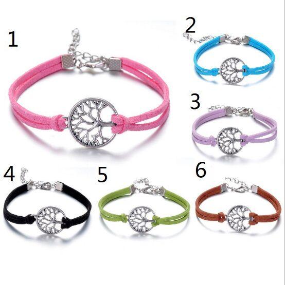 1pcs infinity handmade bracelet Vintage tree Charms Infinity Bangles Leather Bracelet 6480-6486