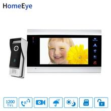 HomeEye 7'' Video Doorbell Video Intercom 1200TVL IP65 Waterproof Motion Detection OSD Menu Touch Button Security Access System все цены