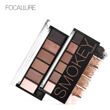 купить FOCALLURE 6 colors Smokey Matte Eyeshadow Palette Long lasting with Makeup Eye Shadow Brush по цене 190.83 рублей