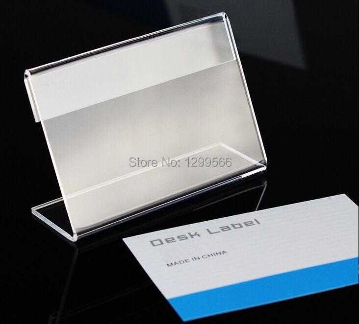 6x4 cm L Form plexiglas Unterzeichnen Preisschild schreibtisch Label ...