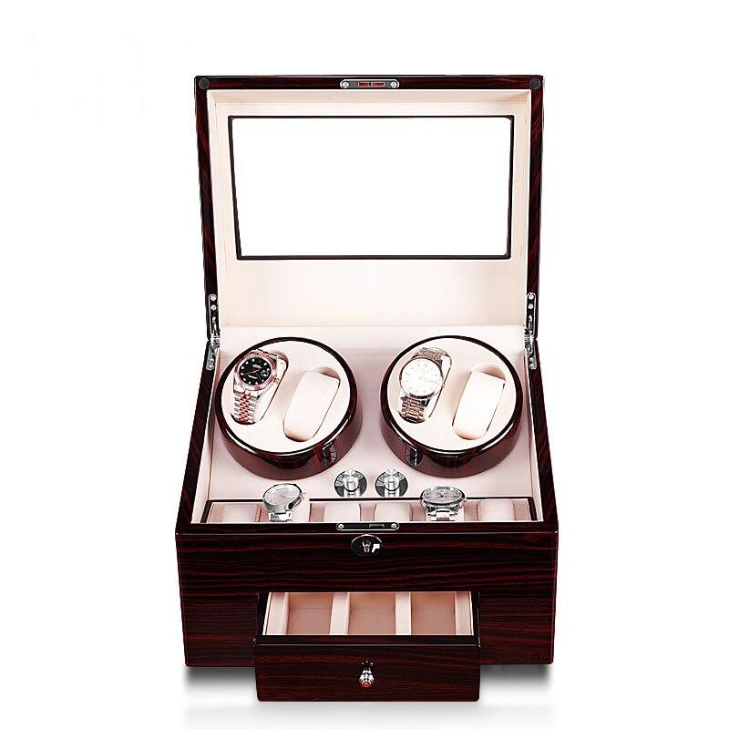 2020 nouveau Design 4 montres remontoir 10 montres stockage affichage tiroir laque bois luxe utilisation mondiale cadeau serrure en gros drop envoyer - 2