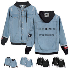 Drop Shopping Riverdale Customized Your Print Kpop Jacket Women Denim Jacket Zipper Bomber Jacket Coat Harajuku Streetwear Y6(China)