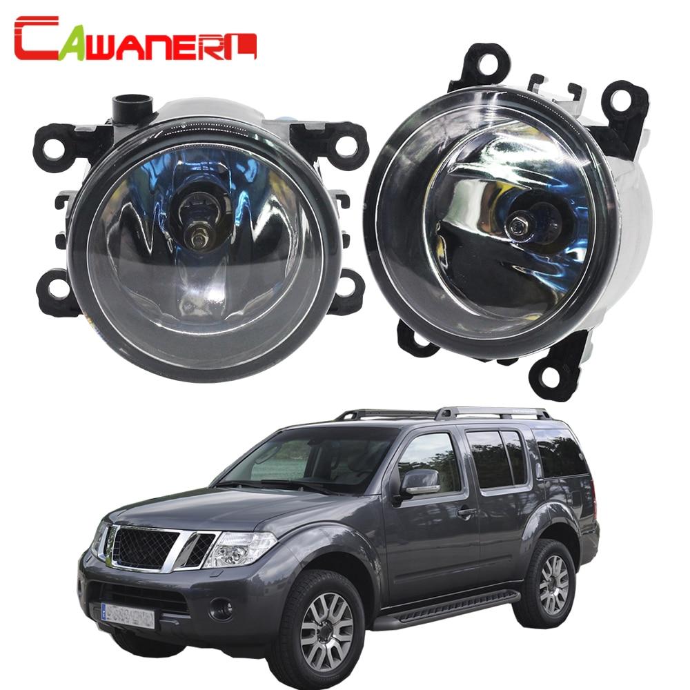 Cawanerl 2 X 100W Car Halogen Fog Light Daytime Running Lamp DRL 12V For Nissan Pathfinder Closed Off-Road Vehicle R51 2005-2012 стоимость