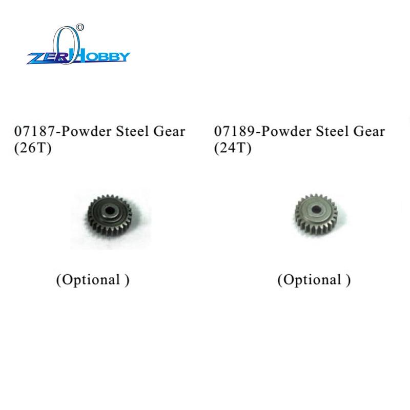 Hsp rc car peças acessórios de aço engrenagem 26 t 24 t para hsp azul foguete em estrada de carro a gás 94052 (PARTE NO. 07187,07189)