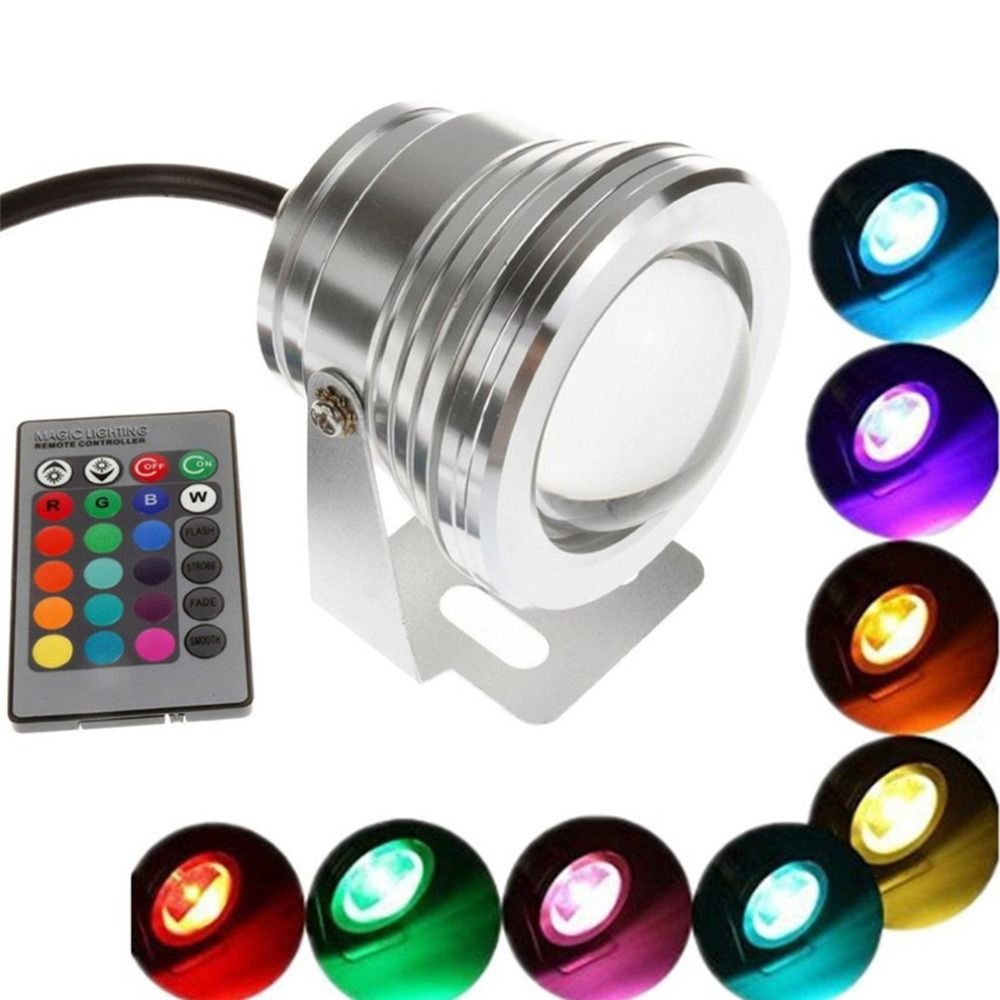 Led Lamps Genteel Ip68 Waterproof Swimming Pool Light Rgb Submersible Lamp 10 Led With Remote Control For Aquarium Pond Wedding Party Traveling Led Underwater Lights