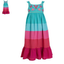 Catimini girls European&American style dress 2016 new Spring&summer kids colorful sleeveless dress girls brand princess sundress