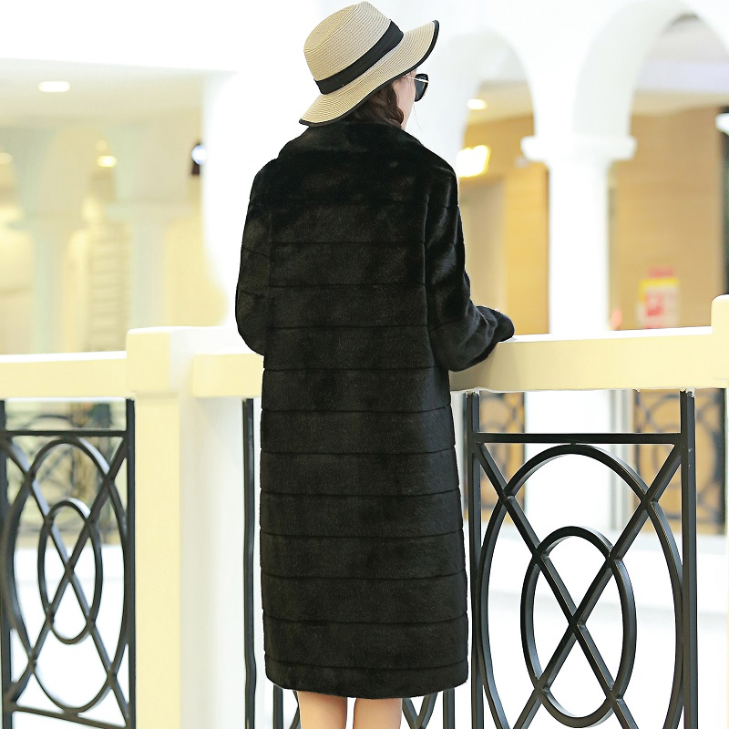 Nerazzurri χειμωνιάτικο παλτό γούνινο Faux - Γυναικείος ρουχισμός - Φωτογραφία 3