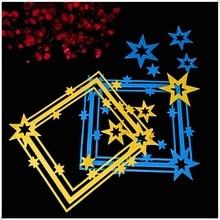 frames dies cutting metal Paper Card Making Process of Star Clipbook Metal Cutting Die Cartoon Carbon Steel Embossing