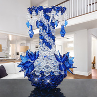 2018 New DIY handmade Flower Vase Acrylic Pendant Bottle Decoration Bedroom Living Room Home Creative Decoration Crafts