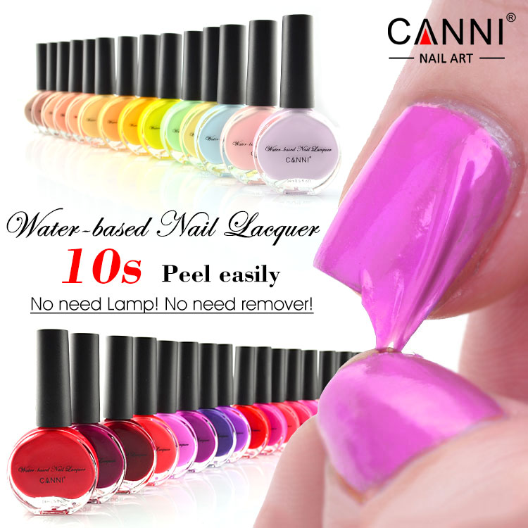 51108 Water Based Nail Polish Canni Art Salon High Quality Easy Remove Strippable Paint L Off Organic Gel Varnish 14ml In From Beauty