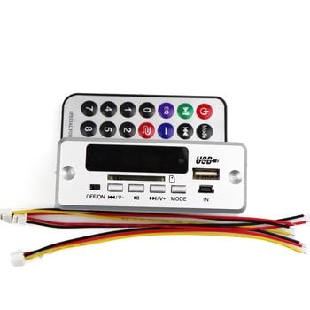 Bluetooth 5.0 MP3 Decodificador Módulo de placa de decodificação Carro sem fio USB MP3 Player WMA WAV Slot para cartão TF / USB / FM Módulo de placa remota 1