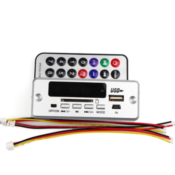 Bluetooth 5.0 MP3 Decoder Decoding Board Module Wireless Car USB MP3 Player WMA WAV TF Card Slot / USB / FM Remote Board Module 1