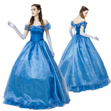 Halloween Costumes For Adult Women Fantasy Cinderella Cosplay Costume Party Dress Princess