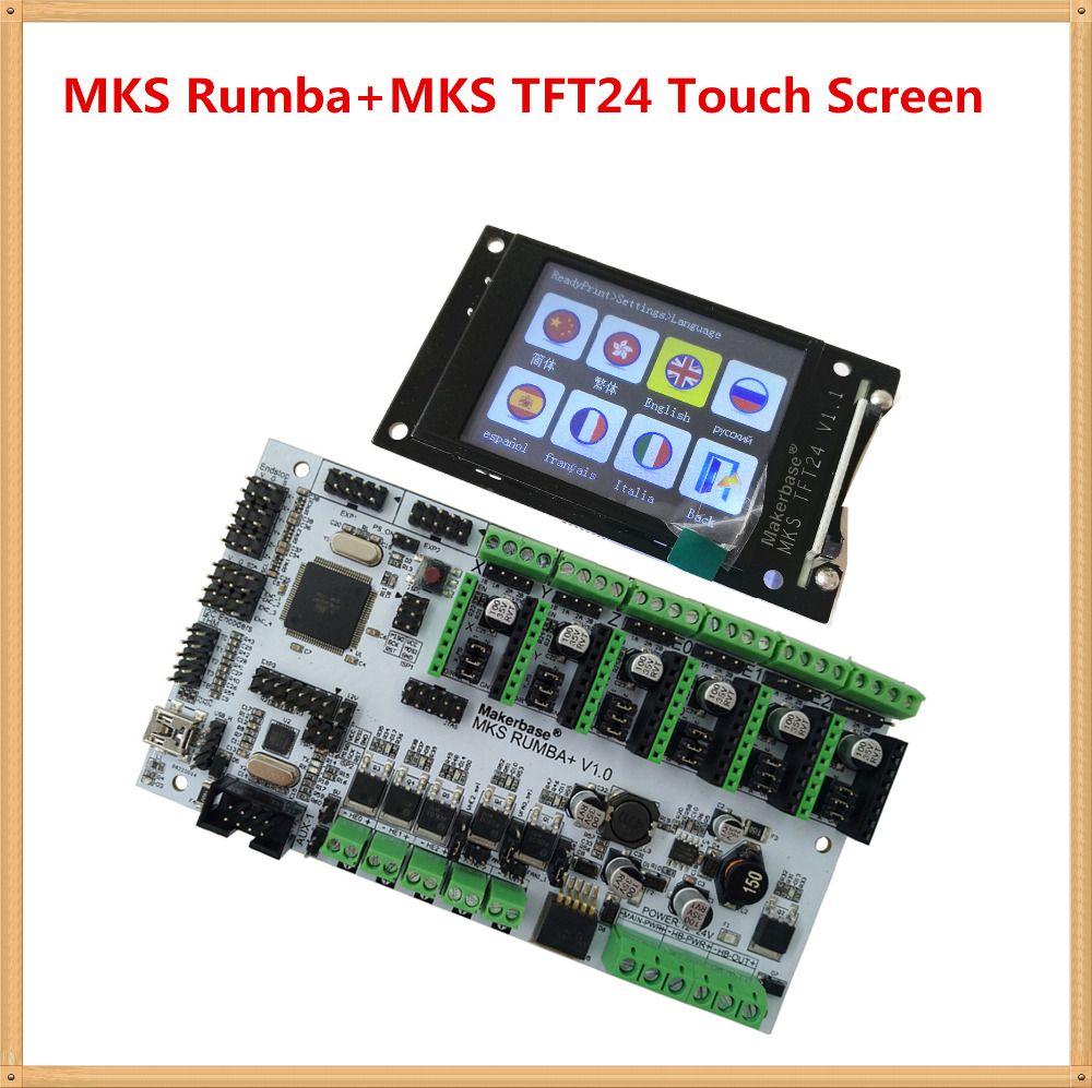 3D printer motherboard MKS Rumba MKS TFT24 display 2 4 inch touch screen LCD controller card