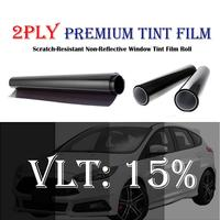 100cm Width 15%VLT Black Car Sun Shade Window Tint Film 2PLY Car Back Side Window Tint House Commercial Heat Rejection Vinyl