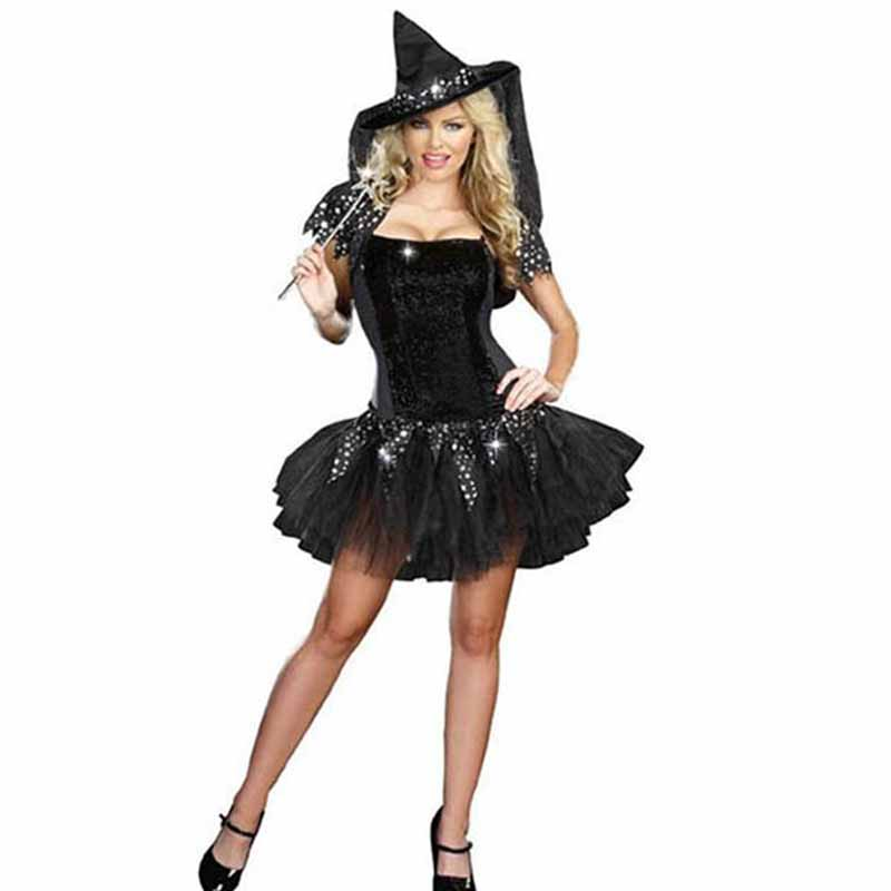 Halloween Sexy Witch Costumes Adult Clothes Sex Women Queen Carnival Party Cosplay Fancy Dress (3)