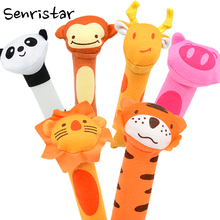 Soft Plush Squeaker Squeaky Dog Toy for Small Dogs Cats Kitten Puppy Pig Lion Tiger Monkey Chew Pet