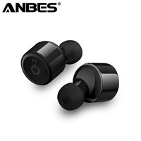 Anbes X1T Mini Bluetooth Earphone Stereo CSR 4 2 True Wireless Headphones With Mic Prompt Earbuds