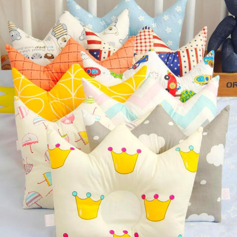 Fashion Baby Shaping Pillow decorate cotton infant head support headrest sleep positioner Newborn pillow to prevent flat headB25 ...