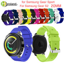 watch band For Samsung Gear Sport 20mm Replacement Wristband Wrist Strap for Samsung Gear S2 Classic Accessories Soft Silicone(China)