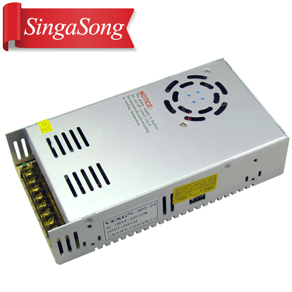 12V 30A 360W Switching power supply Driver For LED Light Strip Display AC200-240V Free shipping 90w led driver dc40v 2 7a high power led driver for flood light street light ip65 constant current drive power supply