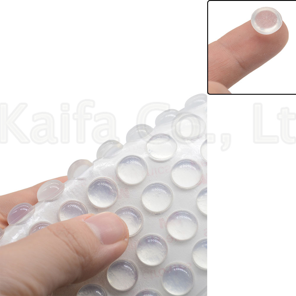 10PCS-50PCS 11mm X 5mm Door Stops Self Adhesive Silicone Pads Cabinet Bumpers Rubber Damper Buffer Cushion Furniture Hardware