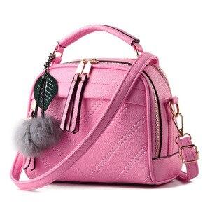 Image 3 - Briggs 패션 품질 가죽 여성 탑 핸들 가방 작은 여성 crossbody 가방 귀여운 어깨 메신저 가방 숙 녀 손 가방에 대 한