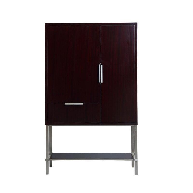 Американский стиль простой деревянный винный шкаф вертикальная полоса Таблица стойку ...